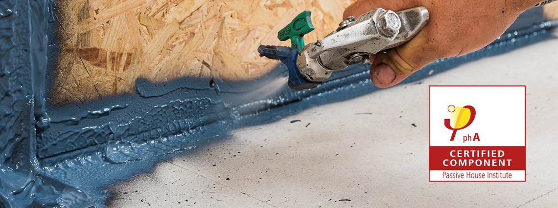 NEW: Sprayable airtightness sealant