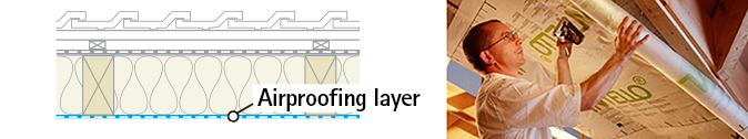 Airproofing layer